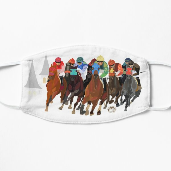 Kentucky Derby Run for the Roses Horse Racing Masks Mask
