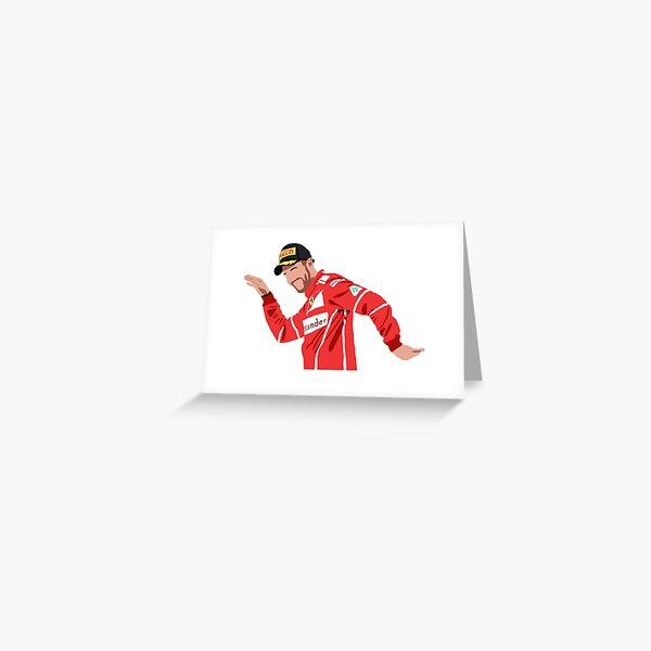 Sebastian Vettel dance podium celebration Greeting Card