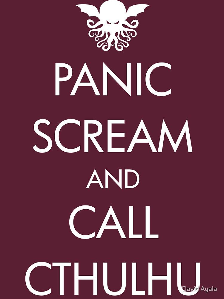 Panic Scream and Call Cthulhu | Unisex T-Shirt