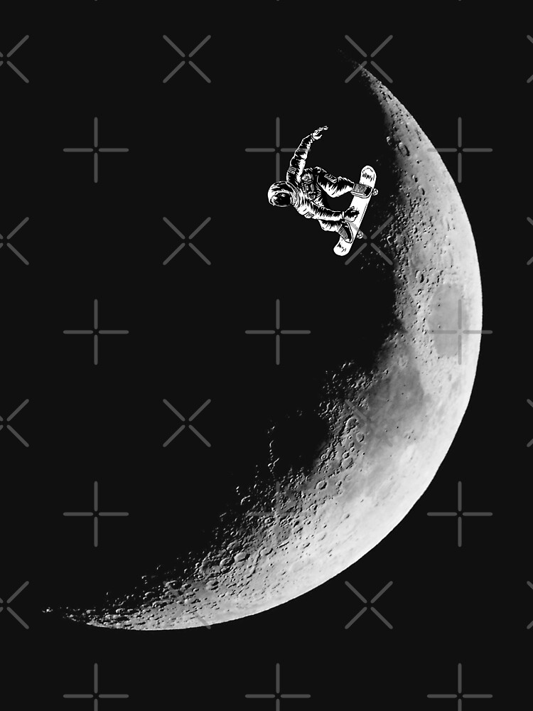 Moon boarder - Astronaut Skateboarding Design Suitable for Men and Women by barmalisiRTB