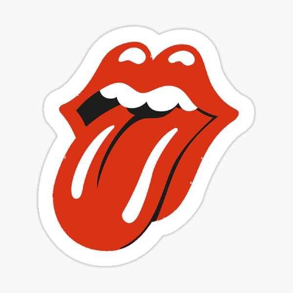 Lengua de rock and roll Pegatina