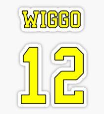 Wiggo 12 Jersey Sticker
