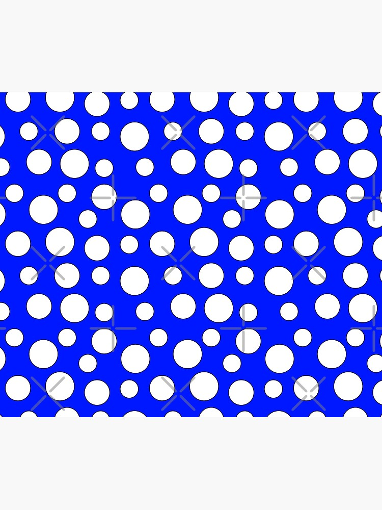 Blue and White Polka Dots by Muzik50
