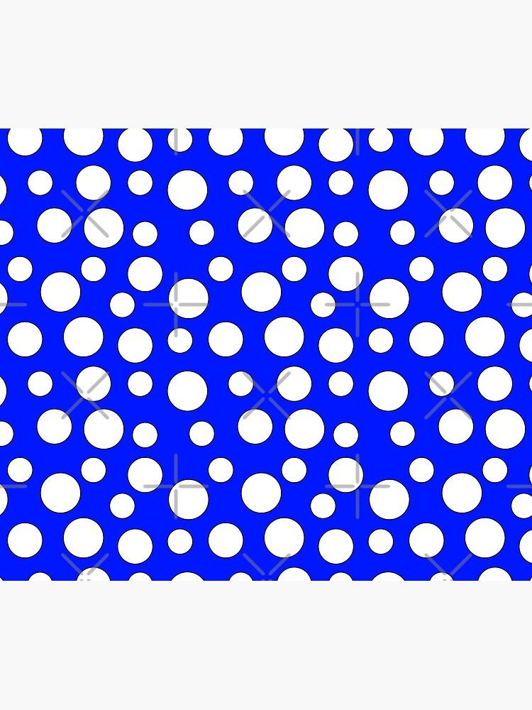 Blue and White Polka Dots by Muzik50
