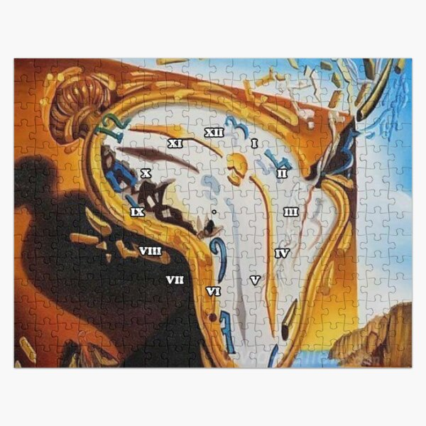 Salvador Dali Paintings Watches Jigsaw Puzzle