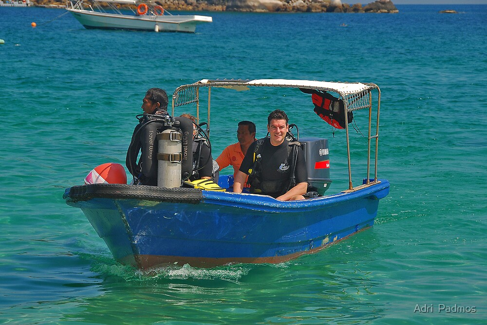 Scuba diver... by Adri  Padmos