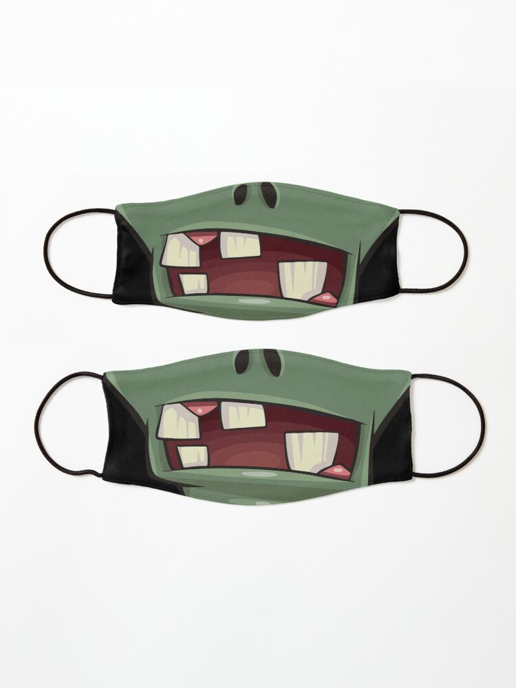 Alternate view of Zombie teeth mouth - face masks design Mask