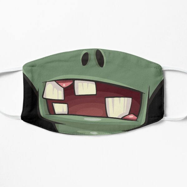 Zombie teeth mouth - face masks design Flat Mask