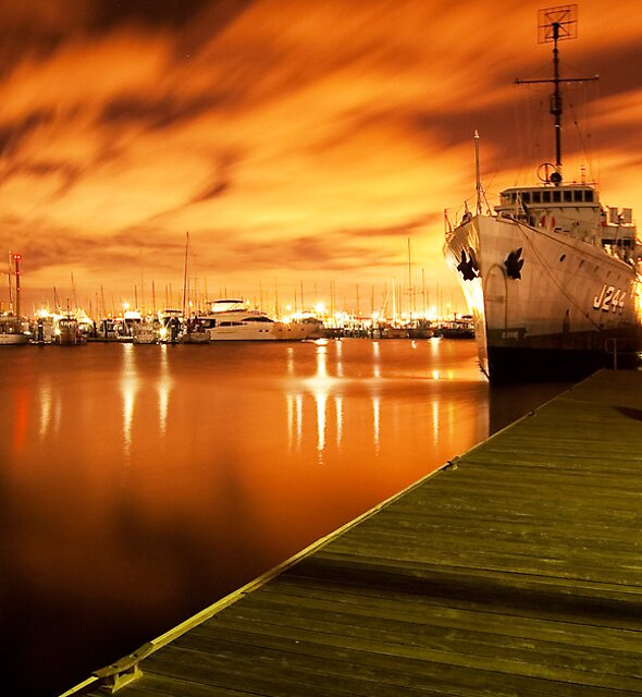 Williamstown at night by Danielle  Miner