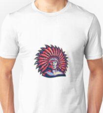 Native American Indian Chief Warrior Retro Unisex T-Shirt