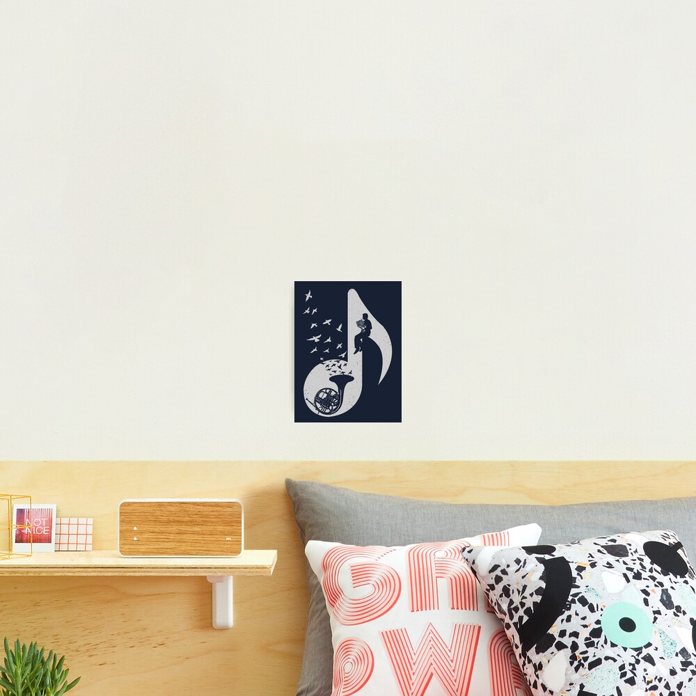 Musical note - French Horn Photographic Print