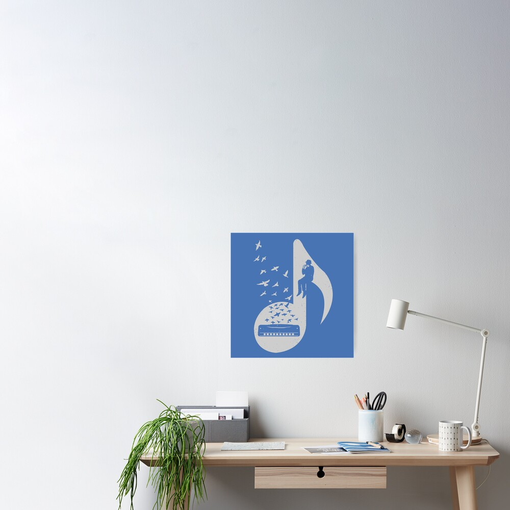 Musical note - Harmonica Poster