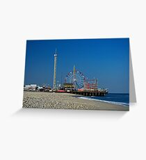 Funtown Pier - As It Was Greeting Card