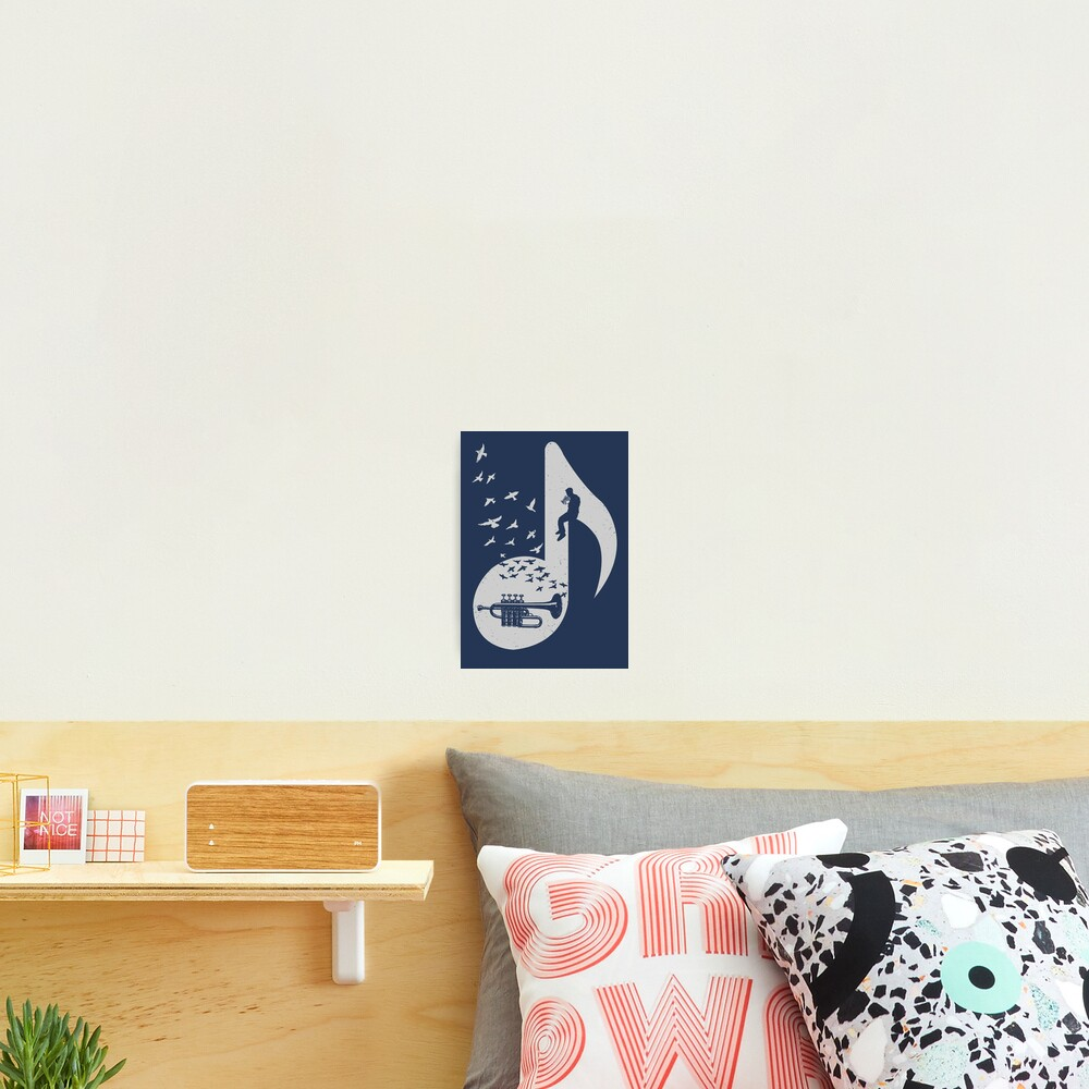 Musical note - Piccolo Trumpet Photographic Print