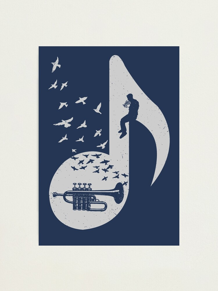 Alternate view of Musical note - Piccolo Trumpet Photographic Print
