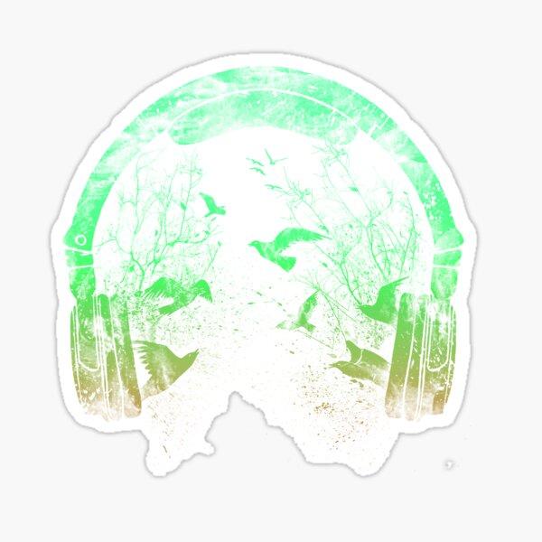 headphone nature Sticker