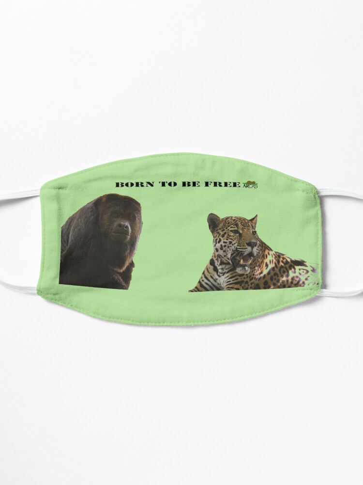 Alternate view of Born to be free jaguar and monkey Mask