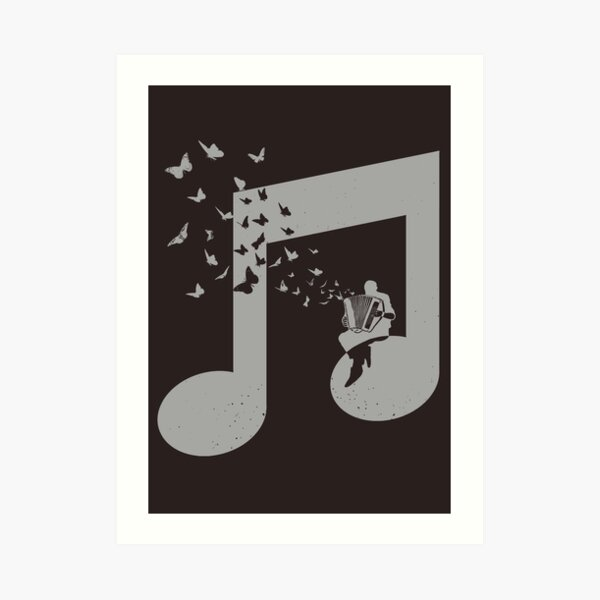 Accordion - Butterfly Art Print