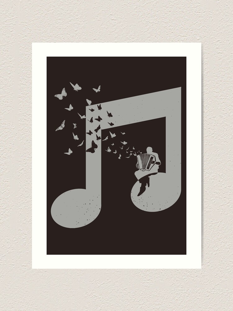 Alternate view of Accordion - Butterfly Art Print