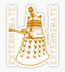 Exterminate Classic Doctor Who Dalek Graphic Sticker