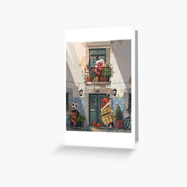Simple street scene Greeting Card