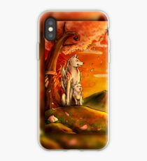 Okami wolf and pup iPhone Case