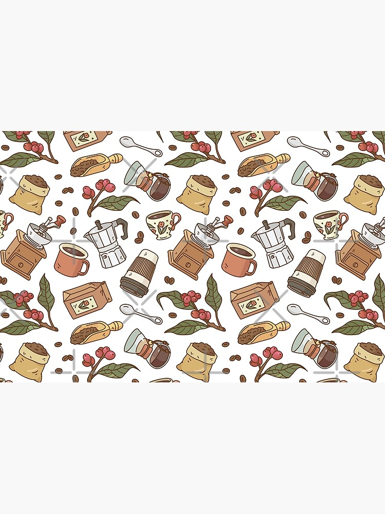 Coffee Break Pattern  by Miri-Noristudio