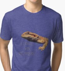 i LOVE MY BEARDIE Tri-blend T-Shirt