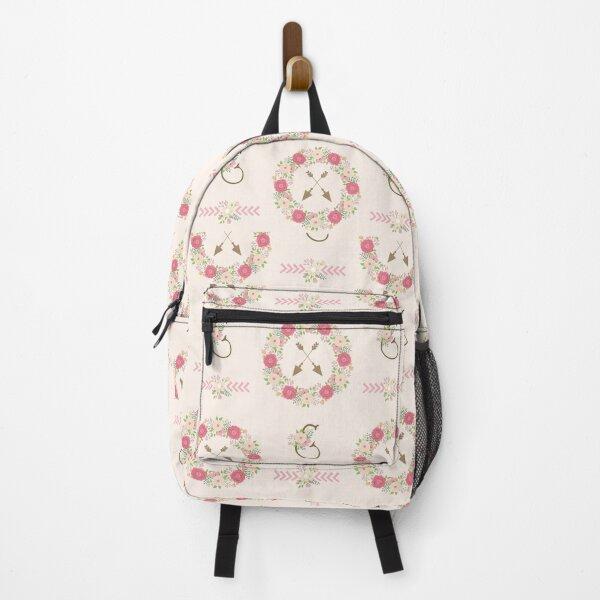 Boho Neck Gator Floral Floral Wreath Arrows Boho Backpack