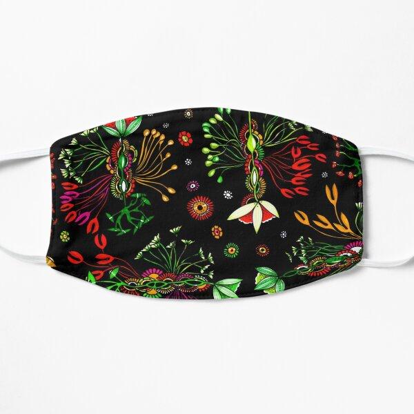 Musical flowers Flat Mask