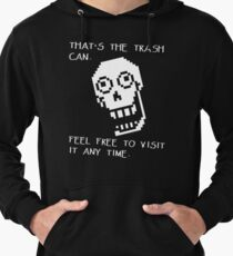 Undertale - Papyrus SHIRT - Trash Can Lightweight Hoodie