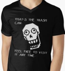 Undertale - Papyrus SHIRT - Trash Can Men's V-Neck T-Shirt