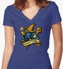 Cast Fire! Women's Fitted V-Neck T-Shirt