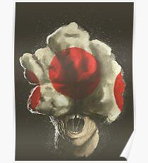 Mushroom Kingdom clicker [Red] - Mario / The Last of Us Poster