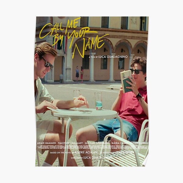 Call Me By Your Name alternate film poster Poster