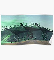 Gallimimus On Bikes Poster