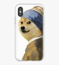 Doge painting iPhone Case