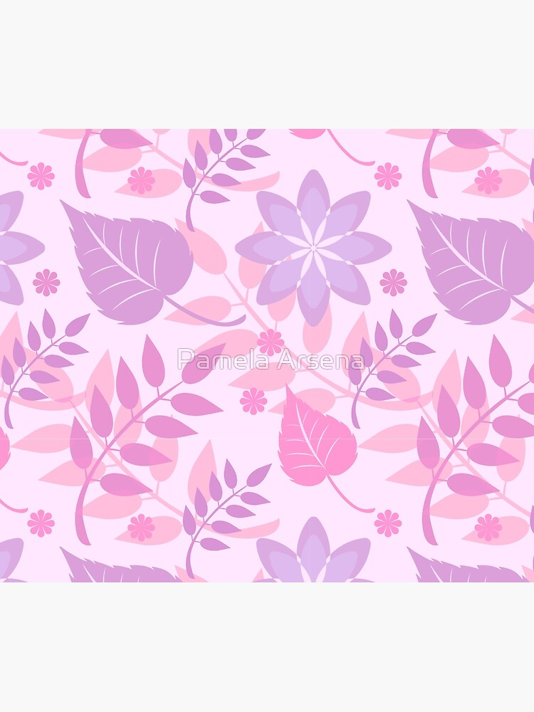 Trendy Girly Leaves Print by xpressio