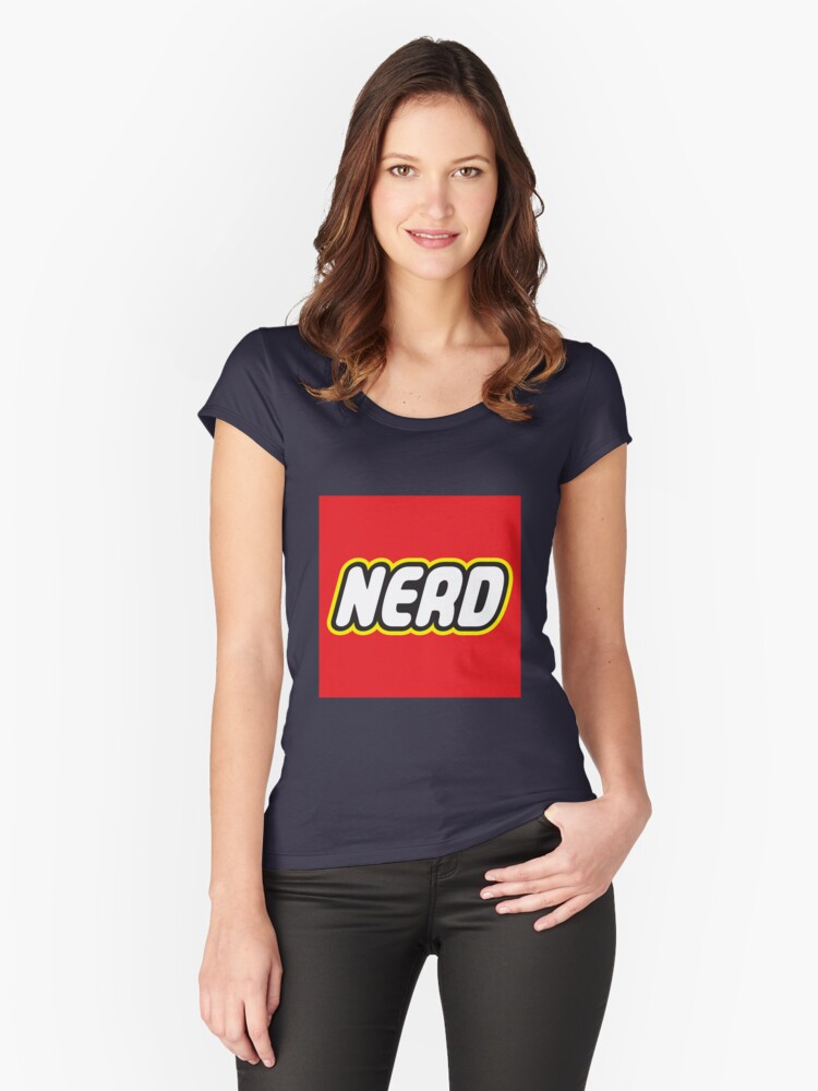 Playful Nerd  Women's Fitted Scoop T-Shirt Front