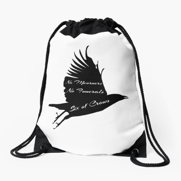 Crow No Mourners No Funerals Drawstring Bag