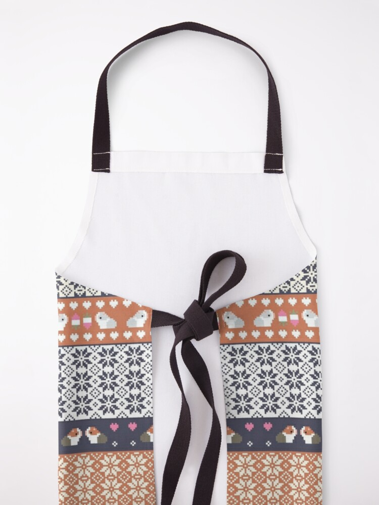 Alternate view of Guinea Pigs Christmas Sweater Pattern  Apron
