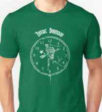 Zombie Doomsday (white ink on black shirt) Unisex T-Shirt
