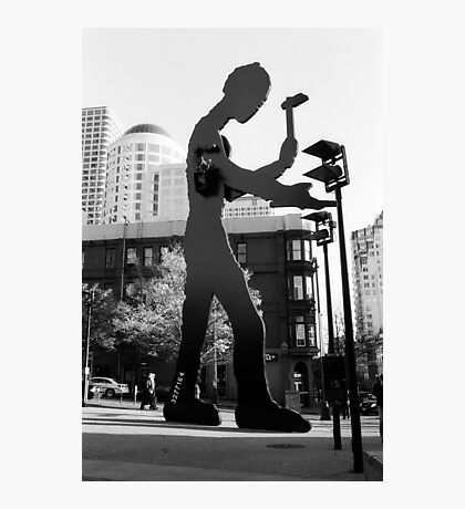 Hammering Man, Downtown Seattle Photographic Print