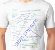 Cabin pressure quote collage. Unisex T-Shirt