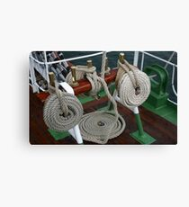 BRASS AND ROPE Canvas Print