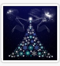 Christmas Tree and Space Sticker
