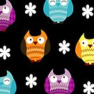 Hooty Owls iPhone Case  by JessDesigns