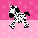 Sweet Cute Zebra Pink Dot Phone Case by JessDesigns