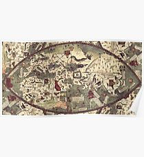 Medieval Old Map Poster