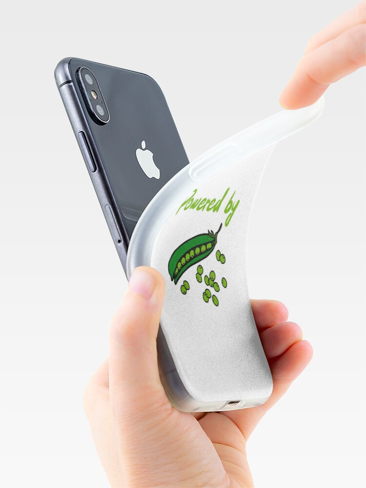 Alternate view of Powered by Peas iPhone Case & Cover